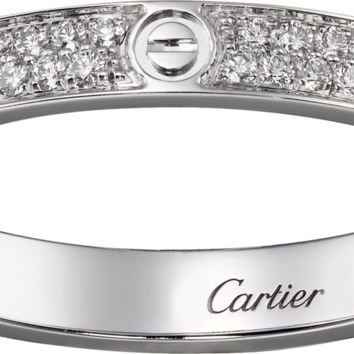 LOVE ring, SM: LOVE ring, small model, 18K white gold, set with 72 brilliant-cut diamonds totaling 0.19 carats.
