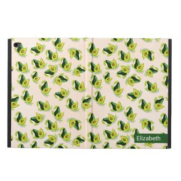 Green Avocados Watercolor Pattern Personalized Powis iPad Air 2 Case