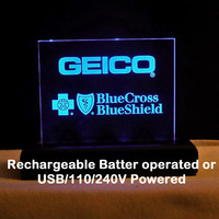 Rechargeable Battery Powered Awards, Desk Signs, Trophies