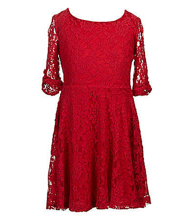 Hip by wrapper 7 16 lace skater dress from dillard s want