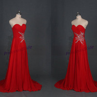 2015 long red chiffon prom dresses hot,new white wedding gowns with sequins,discount chic women dress for evening party.