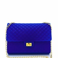 quilted-silicone-clutch FUCHSIA NEONYELLOW ROYAL - GoJane.com