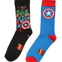 Marvel Avengers Captain America Crew Socks 2 Pack - 175055