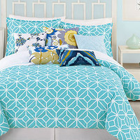 Trina Turk Bedding, Trellis Turquoise Comforter and Duvet Cover Sets - Trina Turk - Bed & Bath - Macy's Bridal and Wedding Registry