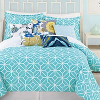 Trina Turk Bedding, Trellis Turquoise Comforter and Duvet Cover Sets - Bedding Collections - Bed & Bath - Macy's