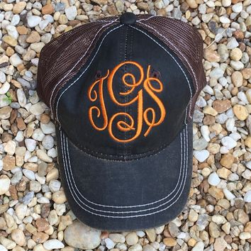 CLEARANCE Outdoor Monogram Trucker Hat