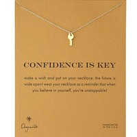 Confidence is Key Necklace| Major Key Necklace| Gold
