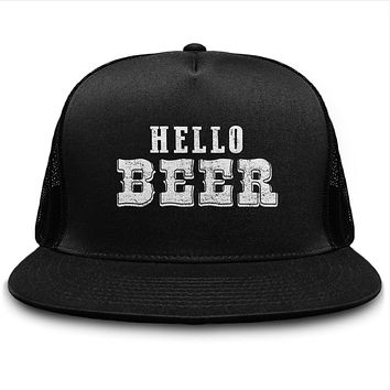 Hello Beer Drinking Craft Fans Hat