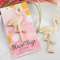 Gold Flamingo Bottle Opener
