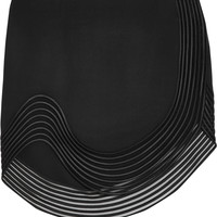 Stella McCartney - Embroidered stretch-cady mini skirt