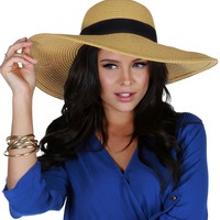 Natural Don Sol Floppy Hat