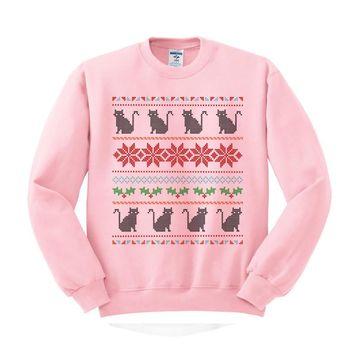 Ugly Cat Sweater Crewneck Sweatshirt