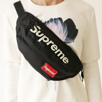 Supreme Stylish Unisex Casual Yellow English Print Canvas Chest Package Outdoor Sports Bag Inclined Shoulder Bag Backpack(4-Style)