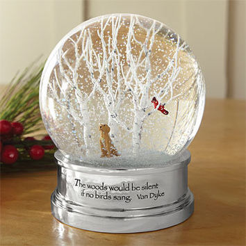 Holiday Dog Snow Globe / Lab in the Woods Snow Globe -- Orvis