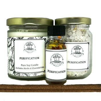Purification Spell Kit for Negativity, Spiritual Cleansing & to Dispel Unwanted Influences