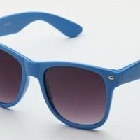 Amazon.com: 80's Classic Blue Brothers Wayfarer Styles Vintage Retro Solid Neon Color Sunglasses in Blue: Clothing