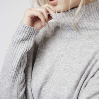 Oversized Funnel Neck Jumper - Topshop