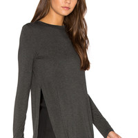 Clayton Tim Top in Charcoal | REVOLVE