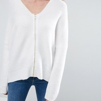 ASOS TALL Cocoon Cardigan with Zip at asos.com