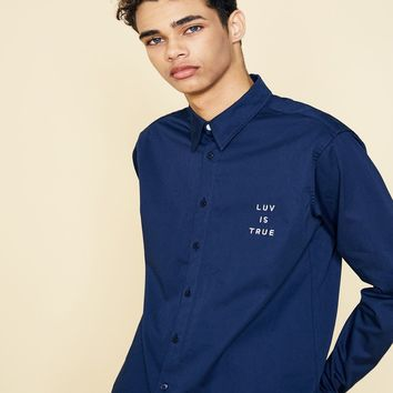 [LUV IS TRUE] (UNISEX)SD POINT SHIRT (NAVY)