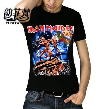 T-shirts Iron Maiden Brand 3D Style 2016 Heavy Metal Streetwear Men's Tshirt Cotton Casual Clothing Short Sleeves Top Tees