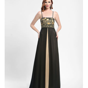 Sue Wong Summer 2014 -  Black Conga Embroidered Evening Gown