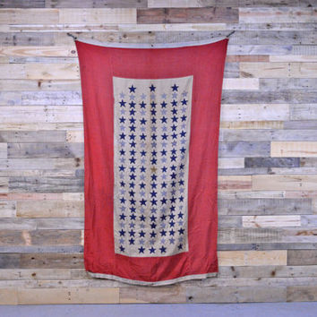 Vintage Service Flag, RARE Son In Service Flag, Antique American Flag, WWI WWII Flag, Red White Blue Flag