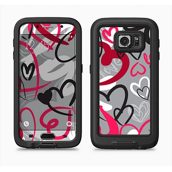 The Vector Love Hearts Collage Full Body Samsung Galaxy S6 LifeProof Fre Case Skin Kit