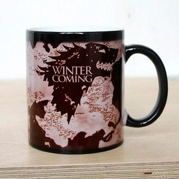 Game of Thrones Winter Is Coming Heat Revealing Mug
