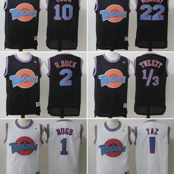 Movie Space Jam Tune Squad Jersey Men's 23 Michael 1 Bugs 10 Lola 1/3 Tweety 22 Murray