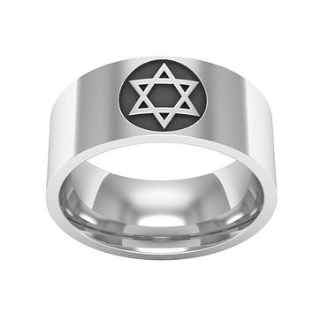 Modern Star of David Men's Ring