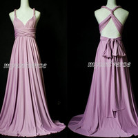 Convertible Dress Purple Lavender Bridesmaid Dress Wrap Infinity Dress Sexy Dress Wedding Gown