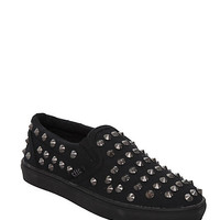 Cute To The Core Phine Black Cone Slip-On Shoes | Hot Topic