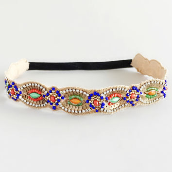 Royal Jasmine Beaded Headband