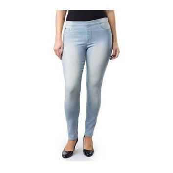 Jordache Women's Pull-On Jeggings, Light Wash, 22W