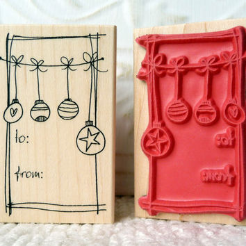 Ornaments To From tag rubber stamp from oldislandstamps
