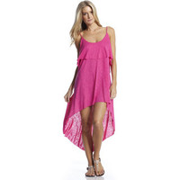Elan Women's Layered Maxi High-Low Dress with Spaghetti Straps | Overstock.com