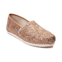 Womens TOMS Classic Lace Glitz Slip On Casual Shoe
