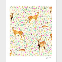 «Deers», Numbered Edition Fine Art Print by Uma Gokhale - From $20 - Curioos