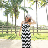 Black and White Chevron Maxi