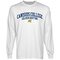 Canisius College Golden Griffins Team Arch Long Sleeve T-Shirt - White