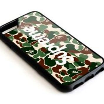 Best Supreme X Bape Camo For iPhone 7 7+ 8 8+ Cover Protect Case