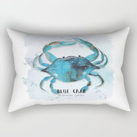 blue crab Rectangular Pillow by Sylvia Cook Photography