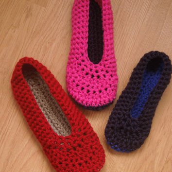 Crochet PATTERN - Ballet Flats - Quick and Easy Project, Instant Download