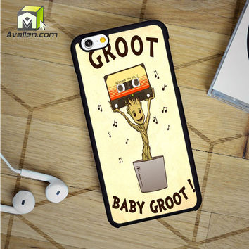 Baby Groot Dancing Awesome Mix iPhone 6 Case by Avallen