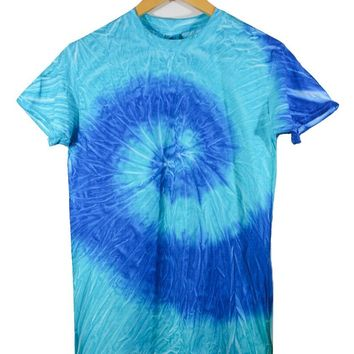Forget Me Not Blue Tie-Dye Unisex Tee