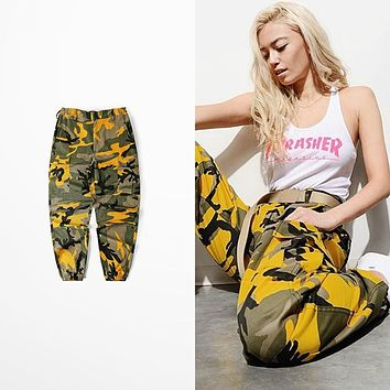 Bib Overall Pants With Bdu Militar Camouflage Pants 2017 Fashion Pants Men Pink Yellow Camouflage Pants Men Brand Street Wear