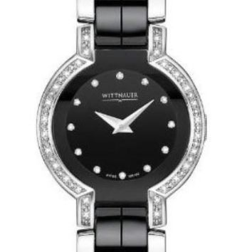 Wittnauer 12R102 Women's Diamond Two Tone Black Ceramic Diamond Watch