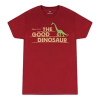 Disney The Good Dinosaur Text And Character Shape Women's Burgundy T-shirt