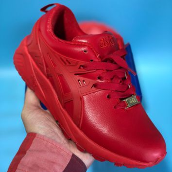 KUYOU Asics Gelkayno Leather Ratro Sport Sneaker Red